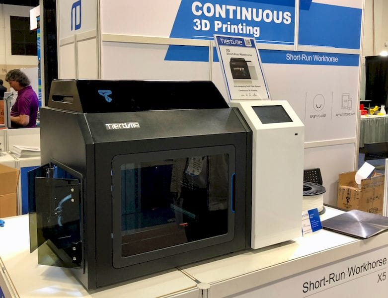 The upcoming Tiertime X5 continuous 3D printer