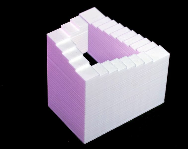 How could this impossible object be 3D printed?