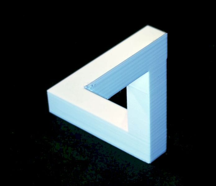 A 3D printed version of the Penrose Triangle