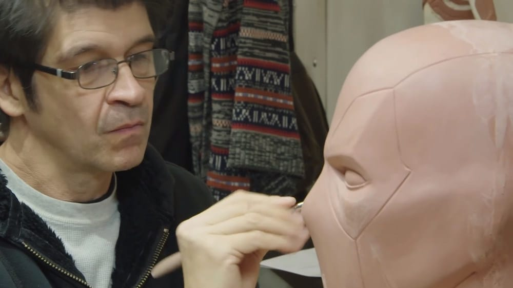 Making a superhero mask involves 3D printing