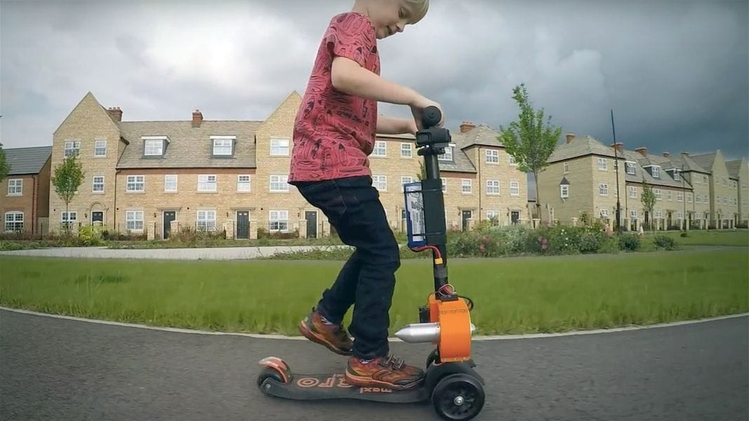 A partially 3D printed jet scooter