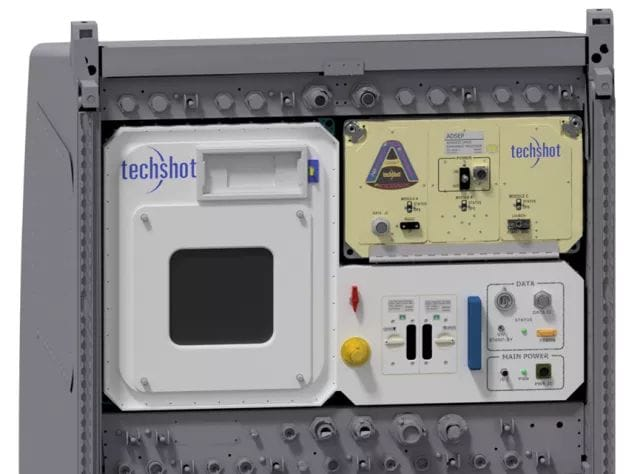 Rendering of Techshot and nScrypt BioFabrication Facility in an EXPRESS rack. (Image courtesy of nScrypt.)