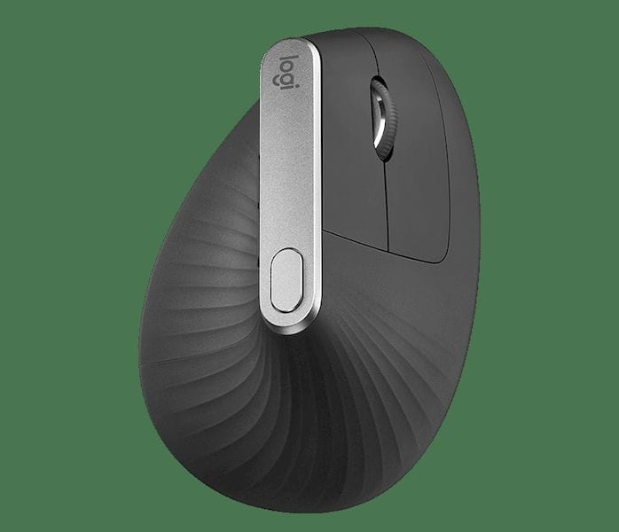 Top view of the Logitech MX Vertical mouse [Source: SolidSmack]