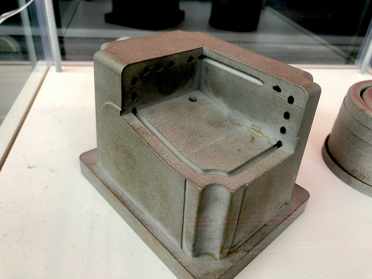 A 3D printed metal production mold showing venting holes [Source: Fabbaloo]