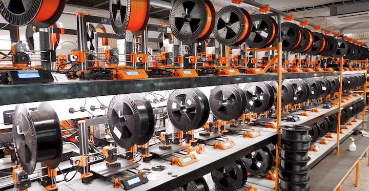 A small selection of Prusa Research's massive production line [Source: Prusa Research]