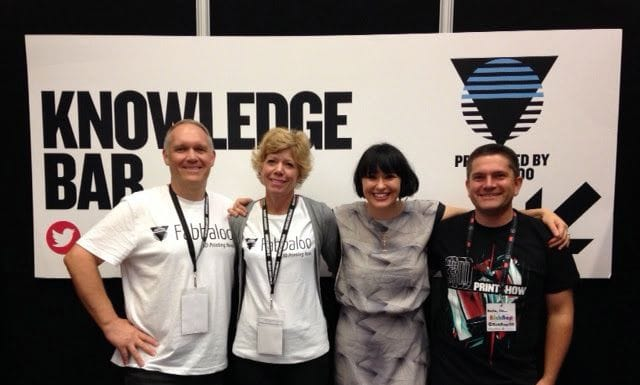 The Fabbaloo team at a 2014 3D Printshow event with Kerry Marks and RichRap [Source: Fabbaloo]