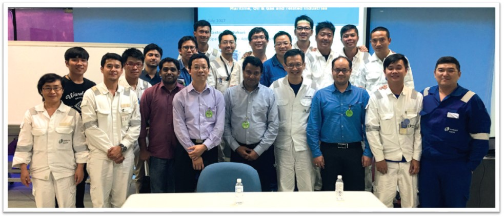 Plant tour at SembCorp Marine to identify parts that can be 3D printed [Image: DNV GL]