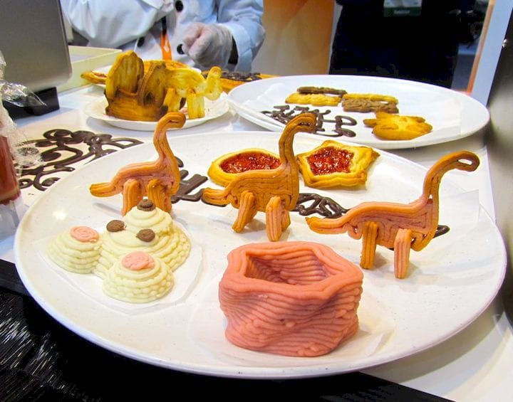 3D printed food examples [Source: Fabbaloo]