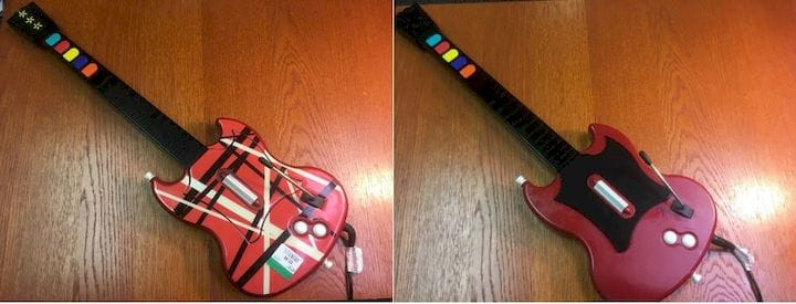 Before and after images of the used Guitar Hero [Source: SOLIDWORKS]