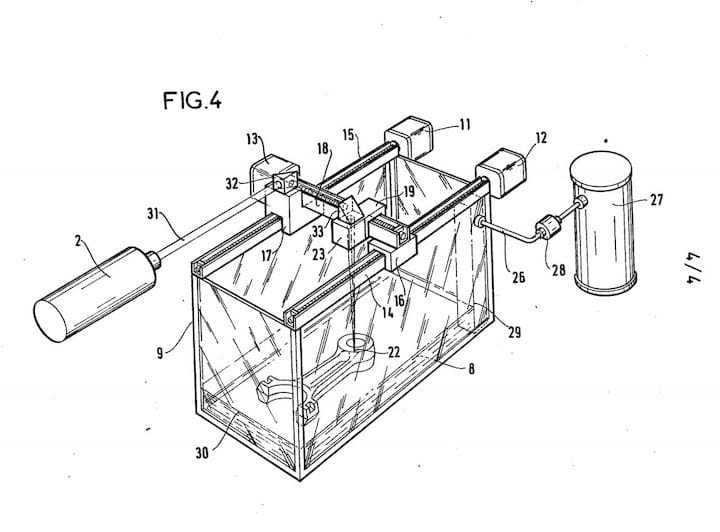 """Yes, the 1984 French patent for a 3D printing device even includes a """"Figure 4"""" [Source: INPI]"""