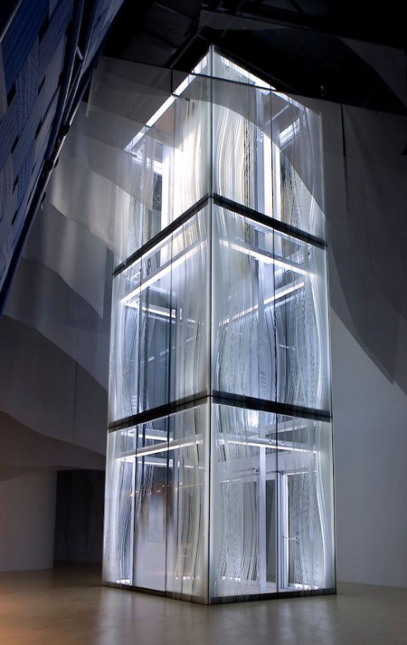 The Kone Lantern Elevator in the Finland pavilion at the 2010 World Expo in Shanghai [Source:  Kone ]
