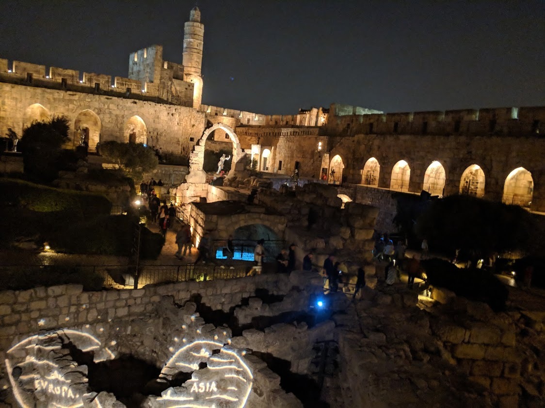 XJet is inspired by history and innovating for the future; a night out in Jerusalem with the team included Israeli history at the Tower of David's Night Spectacular show