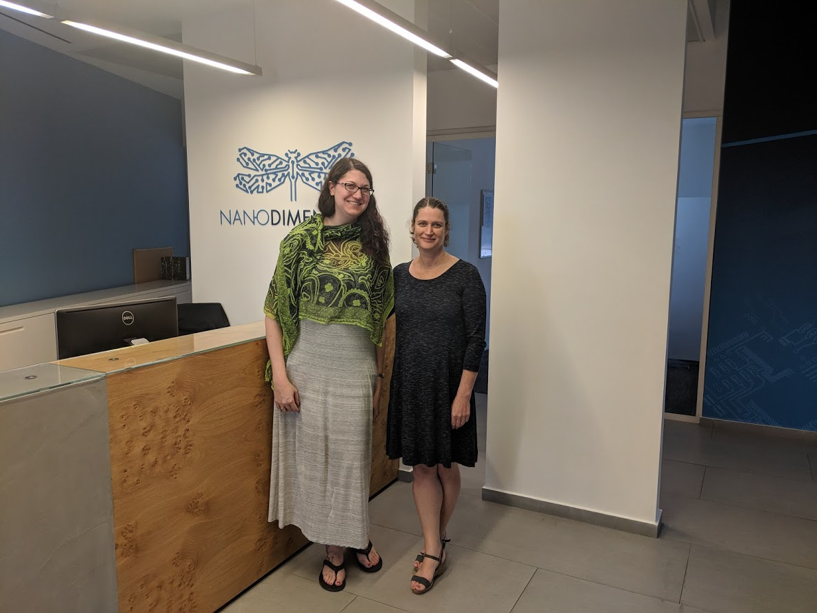 Me (left) with Galit Beck at the end of a visit