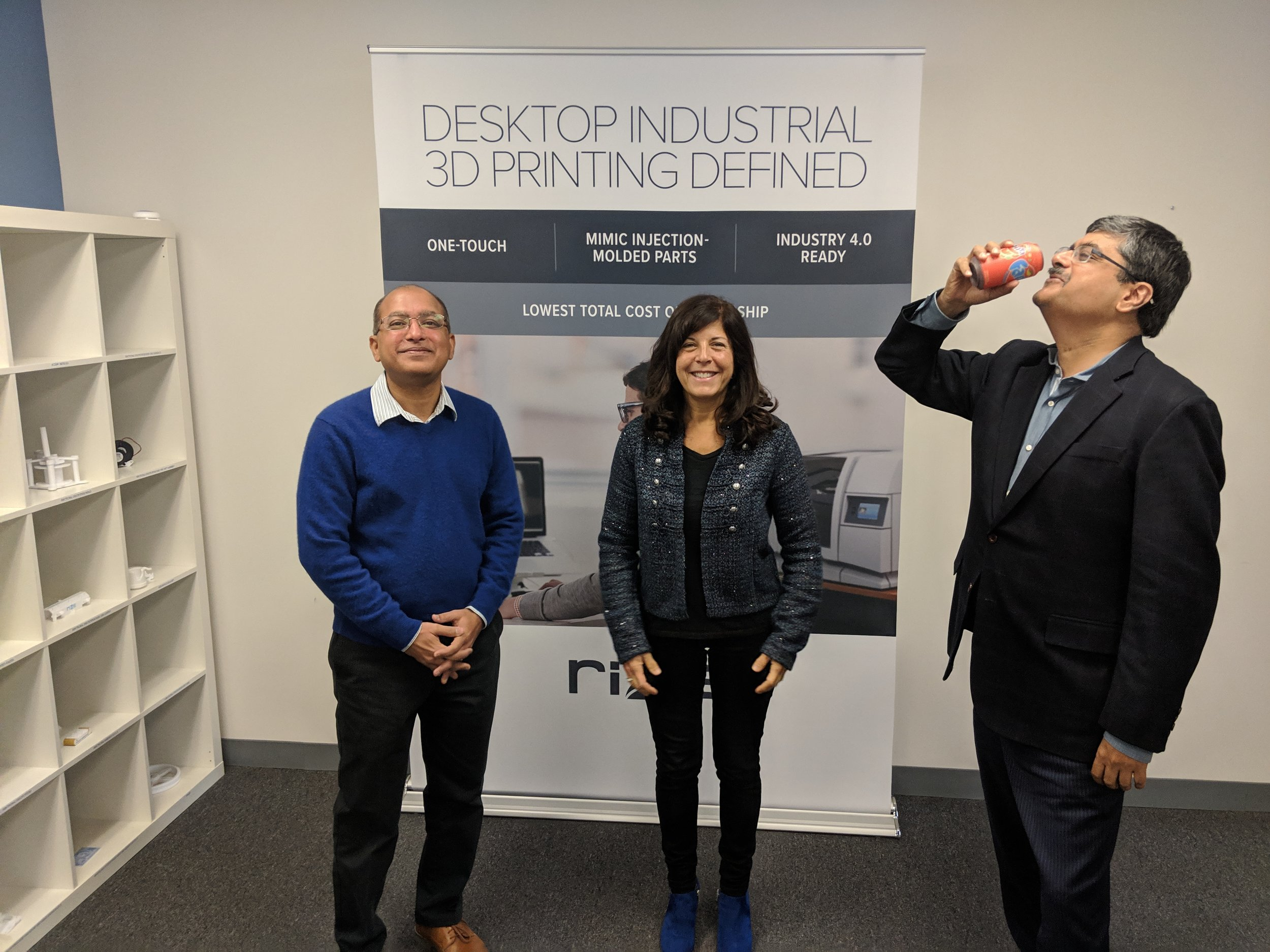 L-R: Kishore, Julie, and Andy at Rize HQ [Image: Fabbaloo]