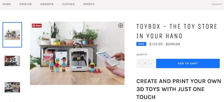 The updated 3D printer store page [Source: Innovstylish]
