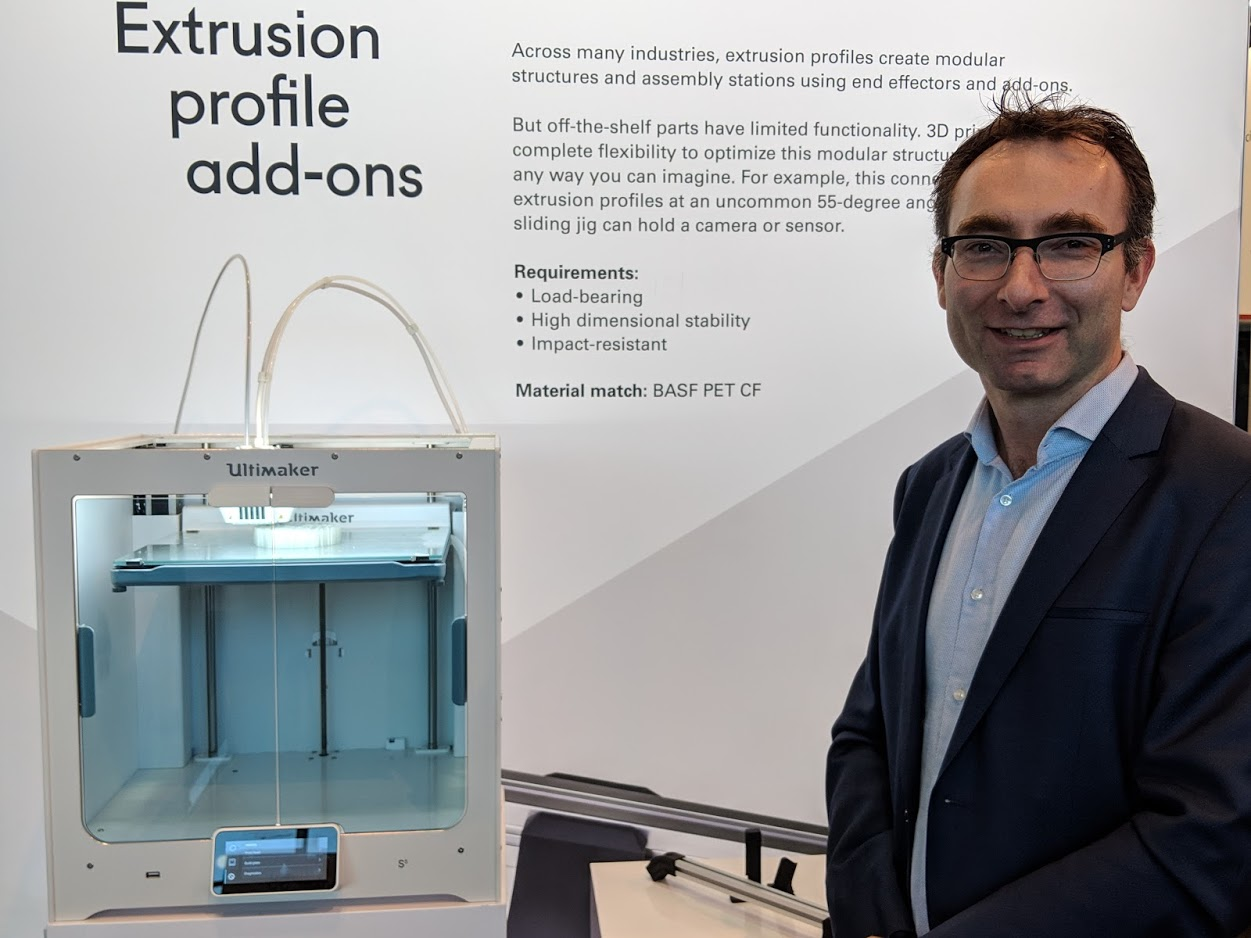 Siert Wijnia, Co-Founder and CTO, Ultimaker at formnext 2018 [Image: Fabbaloo]