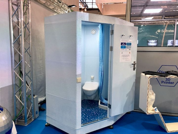 It's a 3D printed toilet! [Source: Fabbaloo]