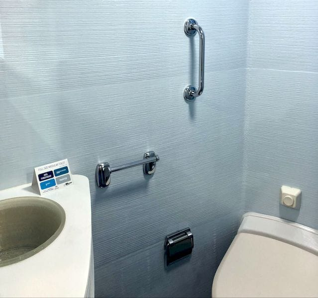 Sink area in the 3D printed toilet [Source: Fabbaloo]