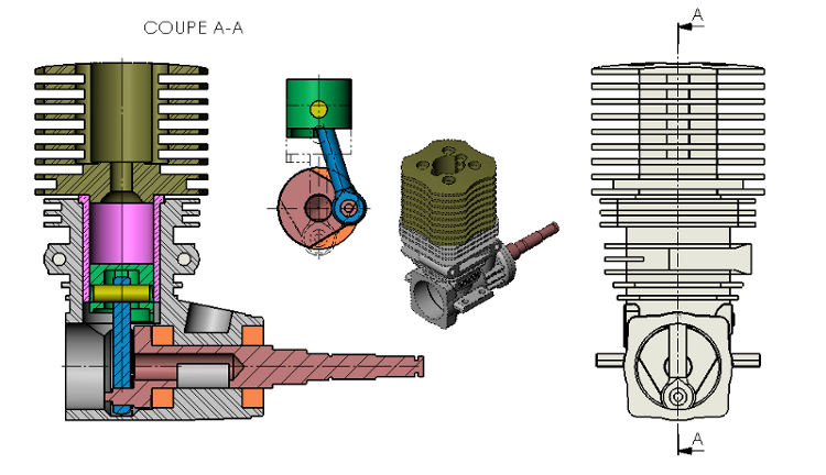 Engine CAD Model