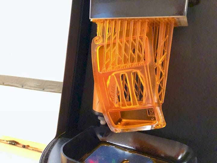 This 3D print was done in around 2 hours on a Sisma Everes 3D printer [Source: Fabbaloo]