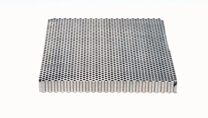 A tungsten anti-scatter grid collimator 3D printed using the screen process [Source: Fabbaloo]