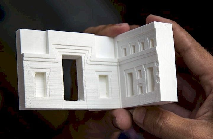 3D print of a portion of an ancient building [Source: Heritage Science Journal]
