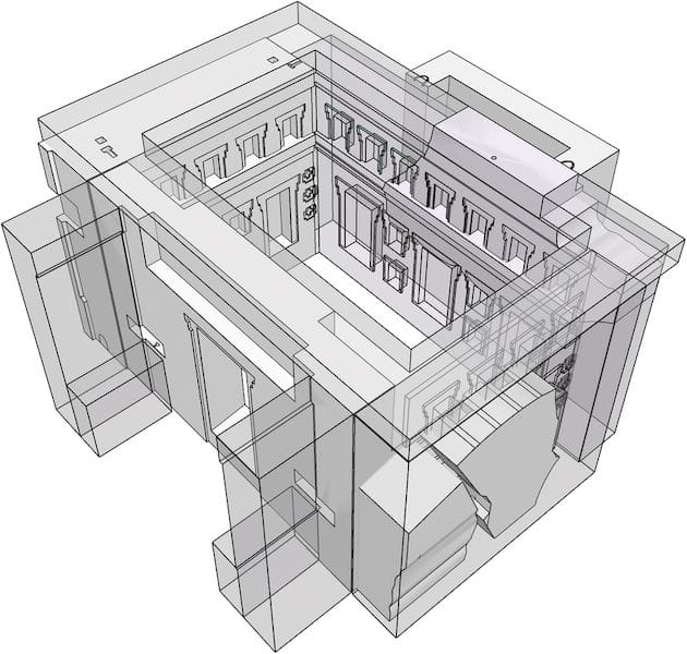3D visualization of the Pumapunka building after using 3D printing techniques to reimagine its original form [Source: Heritage Science Journal]