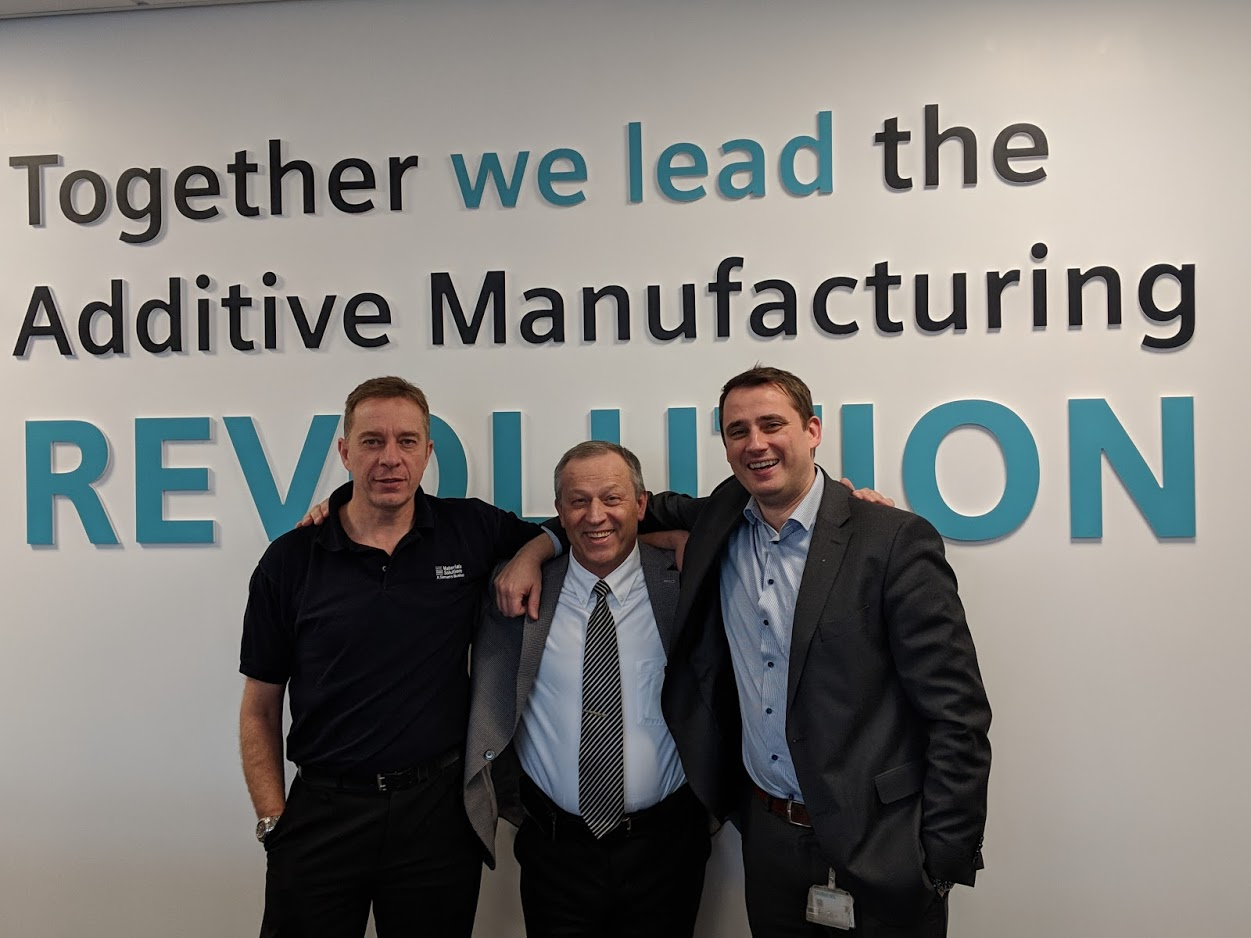 Phil, Vladimir, and Markus embody the spirit of togetherness driving additive manufacturing forward [Image: Sarah Goehrke/Fabbaloo]