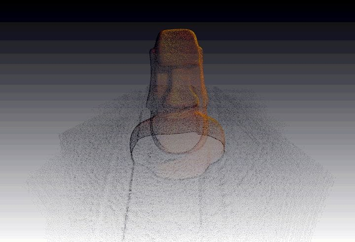 Capture: 3D Scan Anything seems to produce a point cloud rather than a 3D model [Source: Fabbaloo]