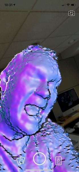 Attempting to self-capture with Capture: 3D Scan Anything [Source: Fabbaloo]