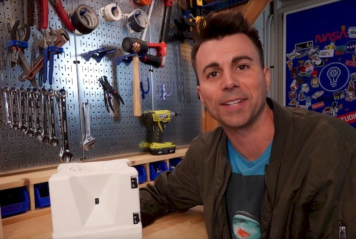 Mark Rober and the 3D printed glitter bomb [Source: YouTube]