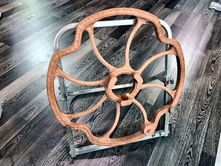 A large copper wheel 3D printed in only six hours by SPEE3D [Source: Fabbaloo]