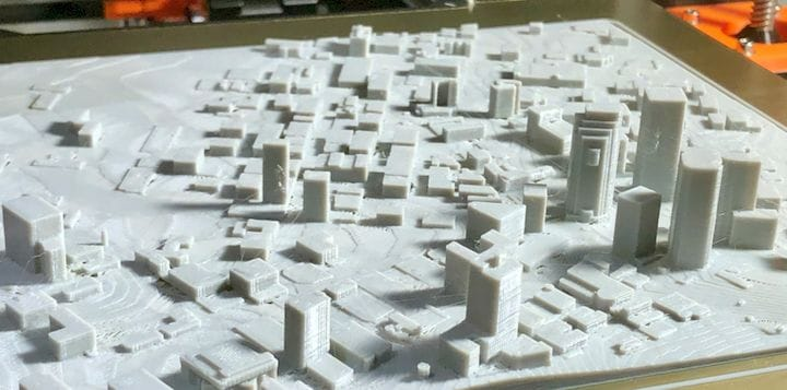 It's entirely possible to 3D print a cityscape without much effort [Source: Fabbaloo]