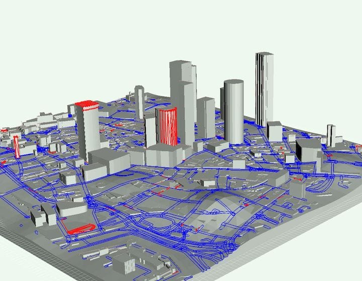 City of London skyscape generated by CADMAPPER is missing significant building detail [Source: Fabbaloo]