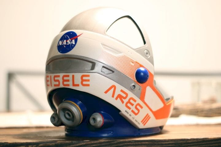 The amazingly realistic Martian Helmet [Source: Kyle Eisele]