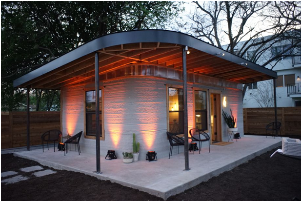 Small 3D Built House Using Cement