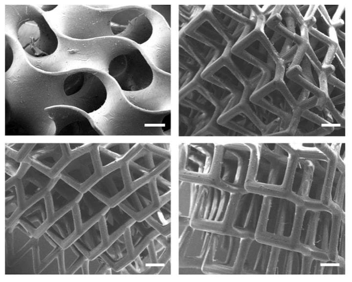 Microscopic 3D printed piezoelectric structures [Source: Nature]