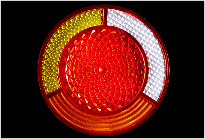 J750 Successful Prototype of a 3D Printed Taillight Cover [Source: Stratasys]
