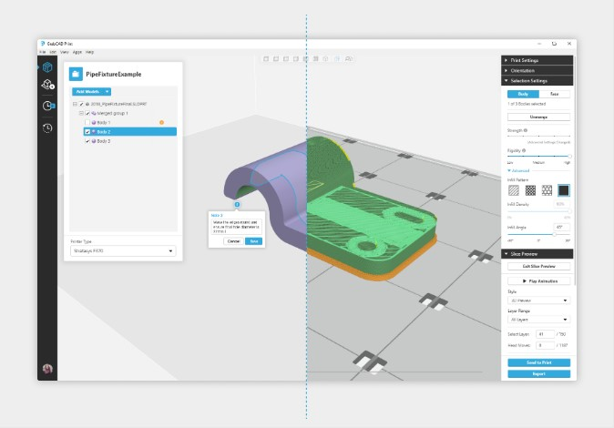 GrabCAD Advanced FDM eliminates the CAD-to-STL conversion process – creating new possibilities for designers and engineers with 3D Printing [Image: Stratasys]