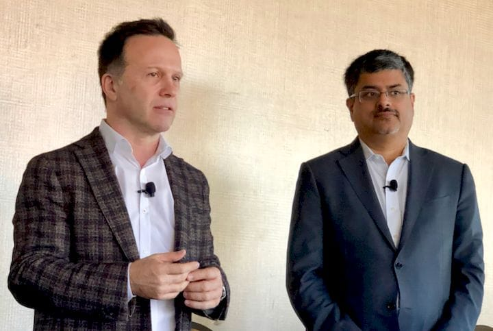 SOLIDWORKS CEO Gian Paolo Bassi and Rize CEO Andy Kalambi [Source: Fabbaloo]