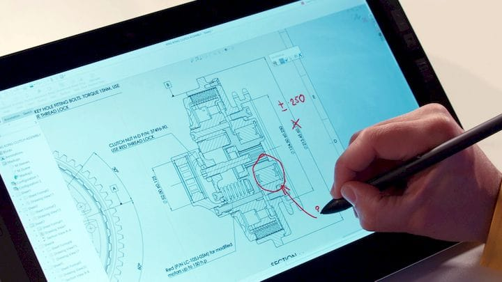 A touch interface [Source: SOLIDWORKS]