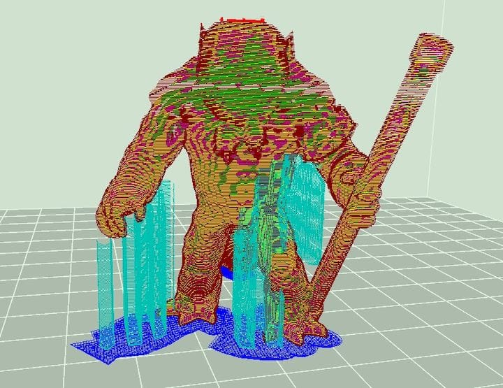 A neatly sliced 3D model ready for printing in 3DWOX Desktop [Source: Fabbaloo]
