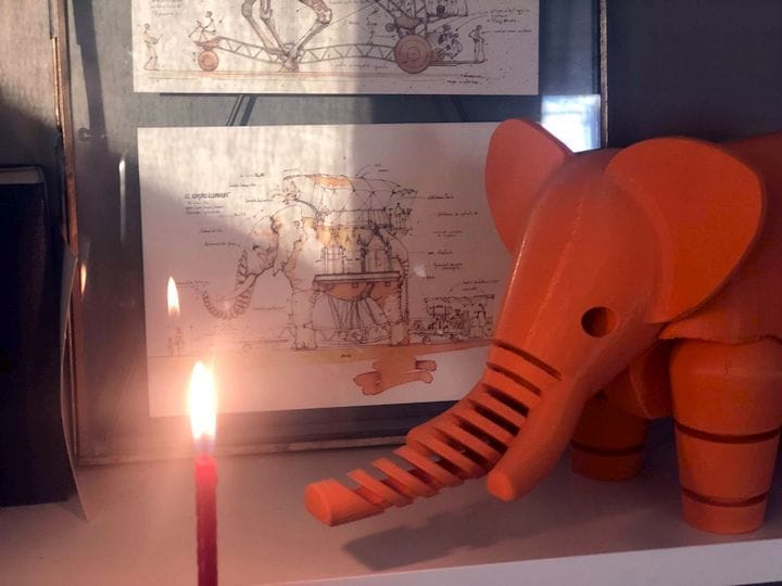 """Another view of the popular 3D printed """"Elephant"""" [Source: Medium]"""