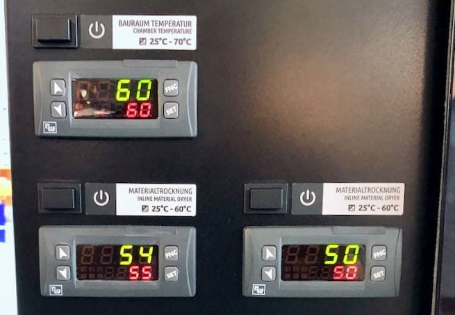 All operational temperatures are carefully monitored on the Xioneer Industrial 3D printer [Source: Fabbaloo]