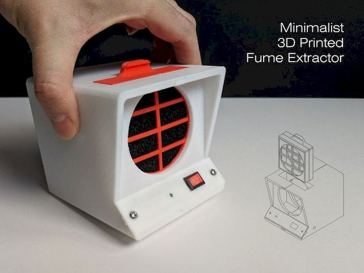 A 3D printed fume extractor [Source: Instructables]