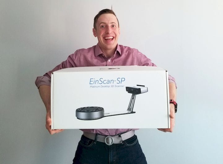 Testing the Einscan-SP 3D Scanner [Source: SolidSmack]