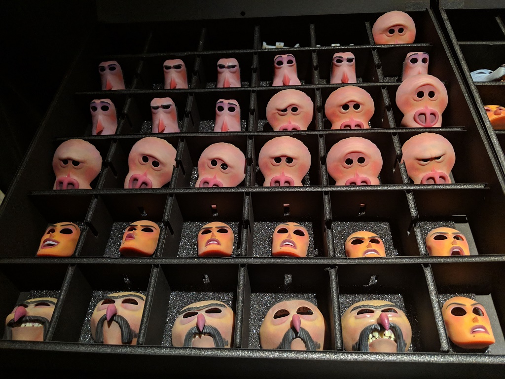 Character faces from 'Missing Link' [Image: Sarah Goehrke]