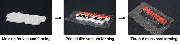 Vacuum forming workflow for producing full color 3D signage [Source: Mimaki]