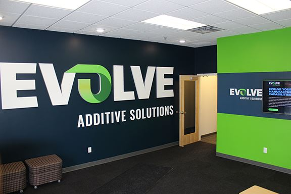 Inside the lobby of the company's Minneapolis, MN HQ [Image: Evolve Additive Solutions]