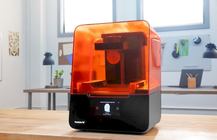 The Form 3 desktop 3D printer [Source: Formlabs]